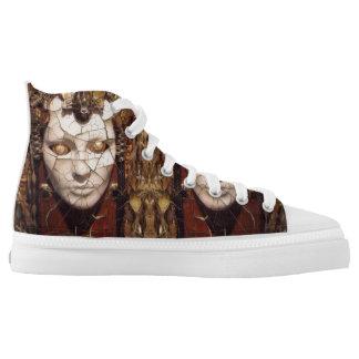 Aharons Kunst Hoch-geschnittene Sneaker