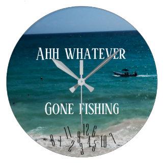 Ahh was auch immer - gegangene Fischerei - Große Wanduhr