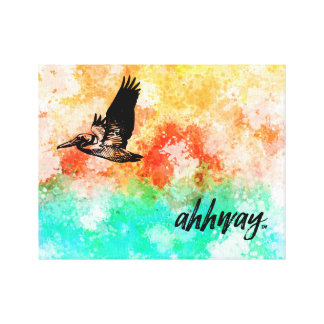 Ahhway.™ Pelikan Leinwanddruck