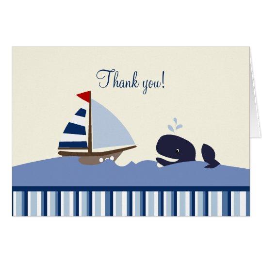 Ahoi danken der Kamerad-Wal (blau) Ihnen Mitteilungskarte