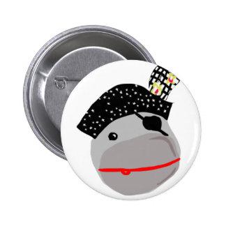 Ahoi! Ein niedlicher Piratenknopf Runder Button 5,1 Cm