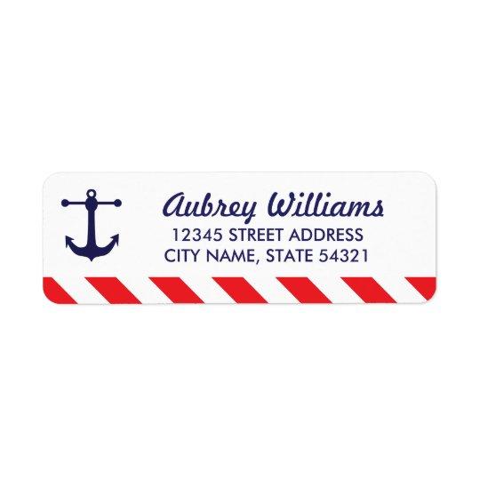 Ahoi! Seeadressen-Etiketten Rücksendeetiketten