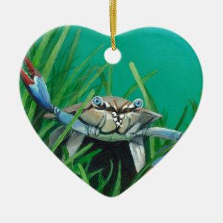 Ahoi treffen die Unterwasser-Seekrabbe Keramik Herz-Ornament