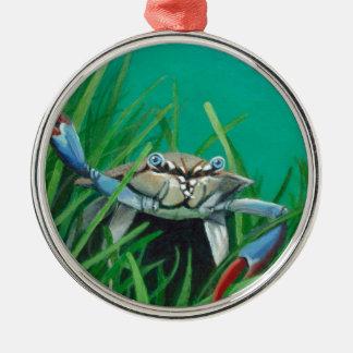 Ahoi treffen die Unterwasser-Seekrabbe Silbernes Ornament