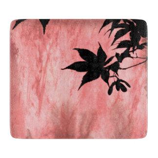 Ahorn-Blatt-Silhouette-rotes Schneidebrett