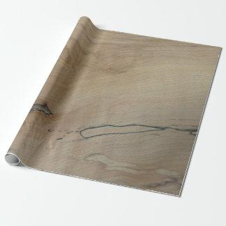 """Ahorn-hölzernes Druck-Packpapier, 30"""" x 6' Geschenkpapier"""