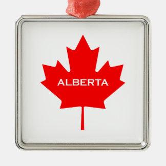 Ahornblatt Albertas Kanada Silbernes Ornament