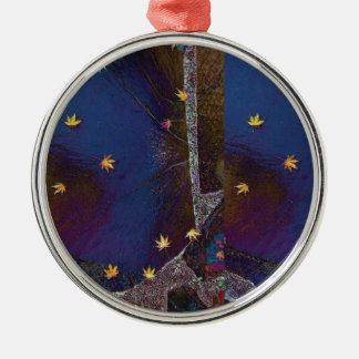 Ahornblatt-Stern-Entwurf Silbernes Ornament