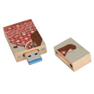 Ahornusb-Antriebs-Zitate Holz USB Stick