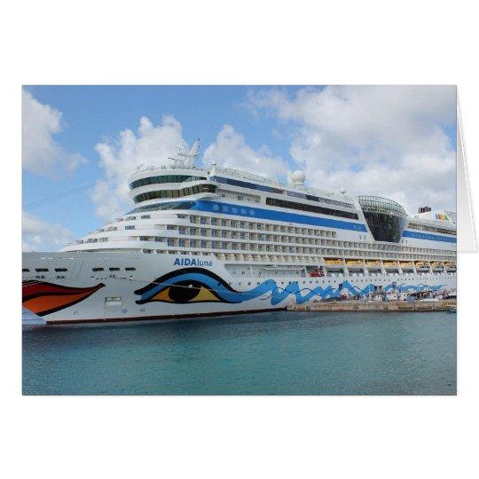 AIDAluna Kreuzschiff anchered vor Grenada-Insel Karte