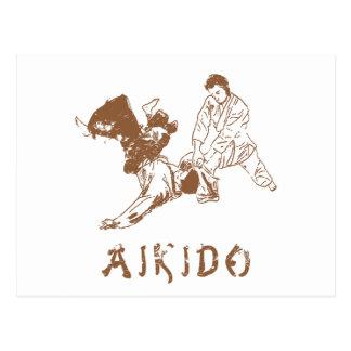 Aikido-Wurf Postkarte