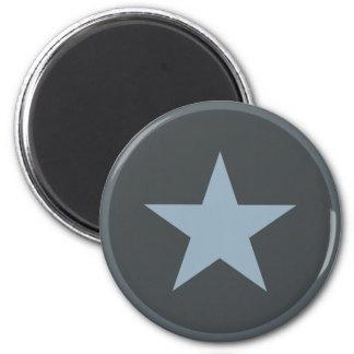 Ailes et bleus d'étoile magnet rond 8 cm