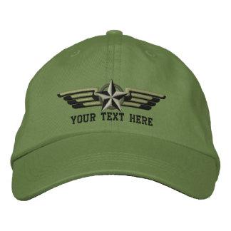 Ailes personnalisées de pilote d'insigne d'étoile casquette de baseball