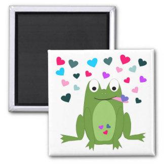 Aimant affamé de grenouille d'amour
