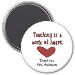 Aimant de cadeau d'appréciation de professeur