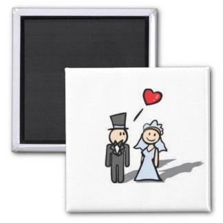 Aimant de couples de mariage