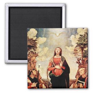 Aimant de la conception de Vierge Marie