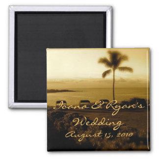 Aimant de mariage de plage
