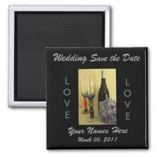 Aimant de mariage de thème de vin