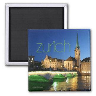 Aimant de photo de souvenir de voyage de Zurich Su
