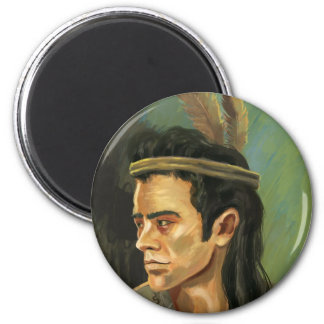Aimant de portrait de guerrier d'Apache