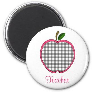 Aimant de professeur - guingan Apple de gris de ch
