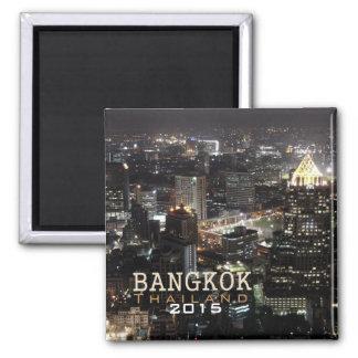Aimant de souvenir de voyage de nuit de Bangkok