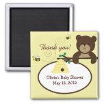 Aimant doux de faveur de baby shower d'ours et d'a