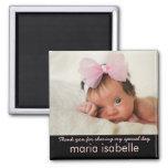 Aimant doux de Merci de souvenir de photo de bébé