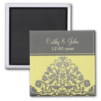 """Aimant économies """"de gris jaune"""" l'aimant de date"""