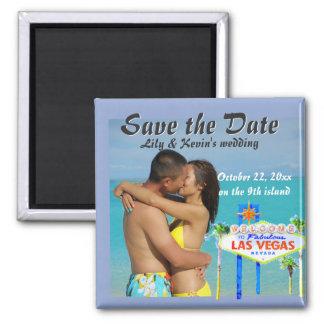 Aimant Faire-part de mariage d'île d'Hawaï neuvième
