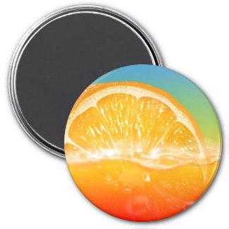 Aimant frais de réfrigérateur de jus d'orange