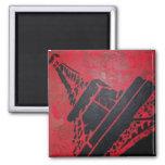 aimant magnet paris tour eiffel noir rouge moderne