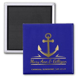Aimant Marine nautique de faveur de mariage de bateau de