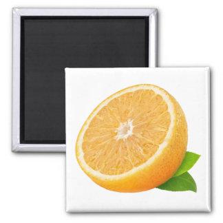 Aimant Moitié de fruit orange