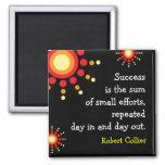Aimant noir de motivation de citation de succès