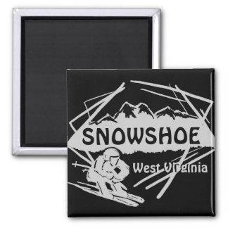 Aimant noir gris de logo de ski de la Virginie Occ