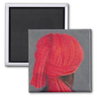 Aimant Turban rouge sur le gris 2014
