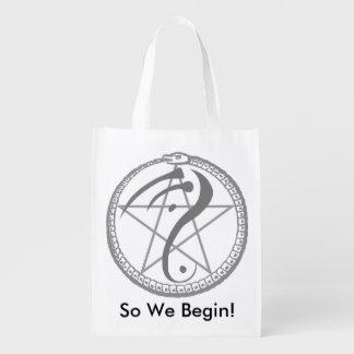 """""""Ainsi nous commençons"""" le sac réutilisable Cabas Épicerie"""