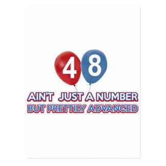 aint 48 gerade eine Zahl Postkarte