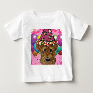 Airedale-Party-Hund Baby T-shirt