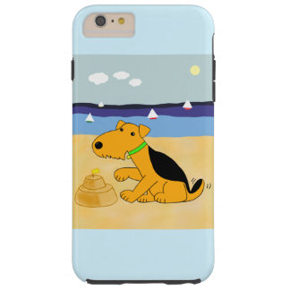 Airedale Terrier an Strand iPhone 6/6s plus Fall Tough iPhone 6 Plus Hülle