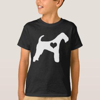 Airedale-Terrier-Herz-Dunkelheit scherzt T - Shirt