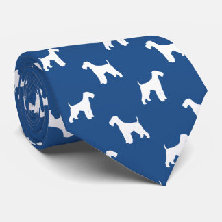 Airedale-Terrier-Silhouette-Muster Individuelle Krawatte