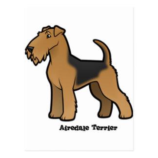 Airedaleterrier Postkarte