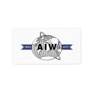 AIW 25. Jahrestag Logo-18 pro Blatt Adressaufkleber