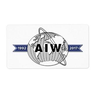 AIW 25. Jahrestag Logo-8 pro Blatt Großer Adressaufkleber