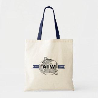 AIW 25. Jahrestags-Logo-Budget Budget Stoffbeutel