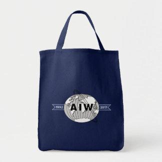 AIW 25. Jahrestags-Logo-Lebensmittelgeschäft Einkaufstasche
