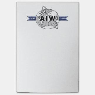 AIW 25. Jahrestags-Logo Post-it Klebezettel